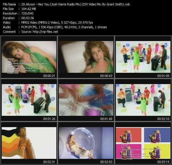 Alyson - Hey You (Josh Harris Radio Mix) (ISV Video Mix By Grant Smith)