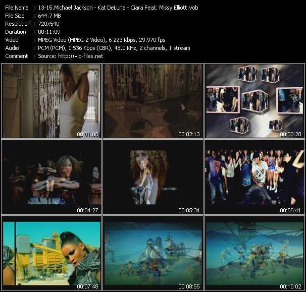 Michael Jackson - Kat DeLuna - Ciara Feat. Missy Elliott - Hollywood Tonight - Party O'Clock - Work
