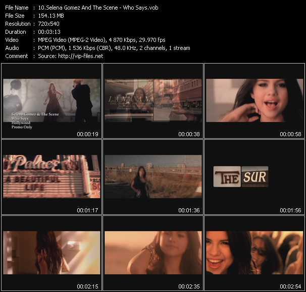 Selena Gomez And The Scene - Who Says