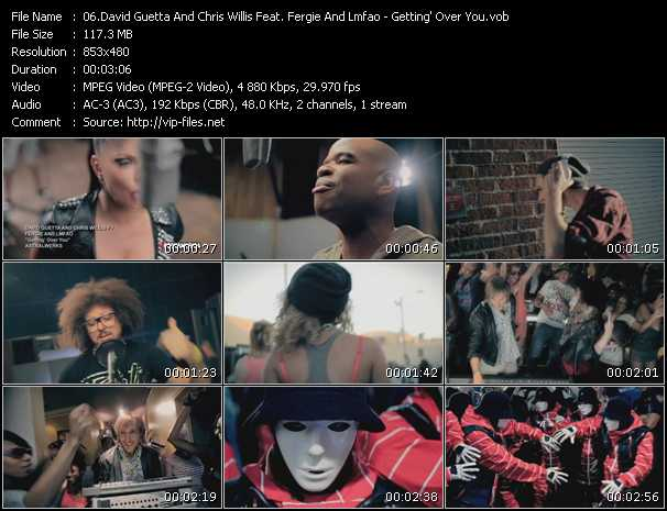 David Guetta And Chris Willis Feat. Fergie And Lmfao - Getting' Over You