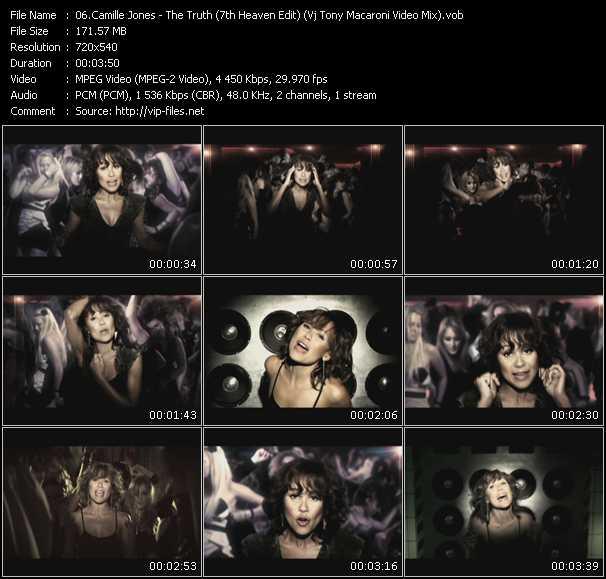 Camille Jones - The Truth (7th Heaven Edit) (Vj Tony Macaroni Video Mix)