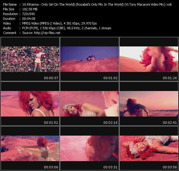 Rihanna - Only Girl (In The World) (Rosabel's Only Mix In The World) (Vj Tony Macaroni Video Mix)