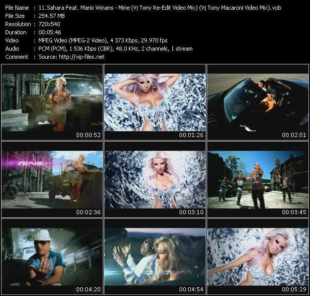 Sahara Feat. Mario Winans - Mine (Vj Tony Re-Edit Video Mix) (Vj Tony Macaroni Video Mix)