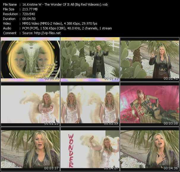Kristine W - The Wonder Of It All (Big Red Videomix)