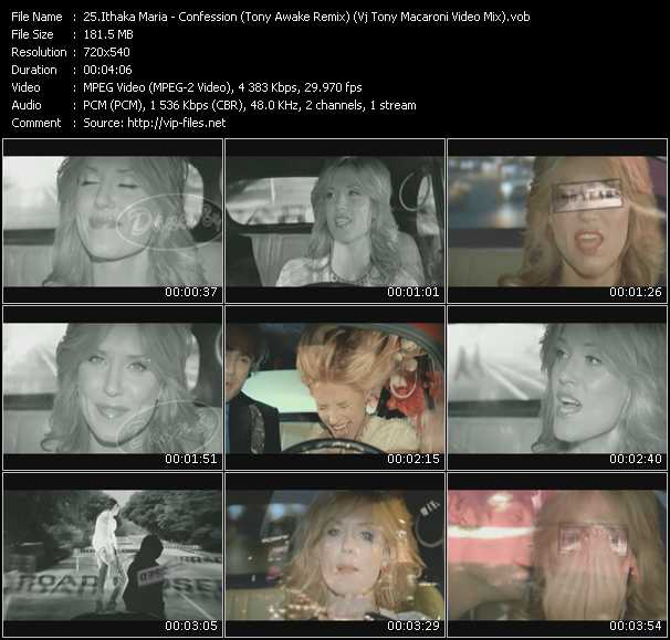 Ithaka Maria - Confession (Tony Awake Remix) (Vj Tony Macaroni Video Mix)