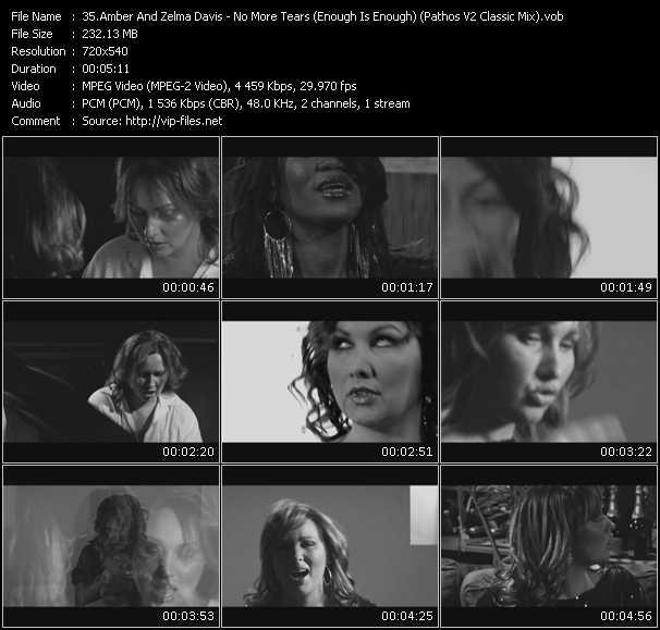 Amber And Zelma Davis - No More Tears (Enough Is Enough) (Pathos V2 Classic Mix) (VJ Dr. D Video Edit)