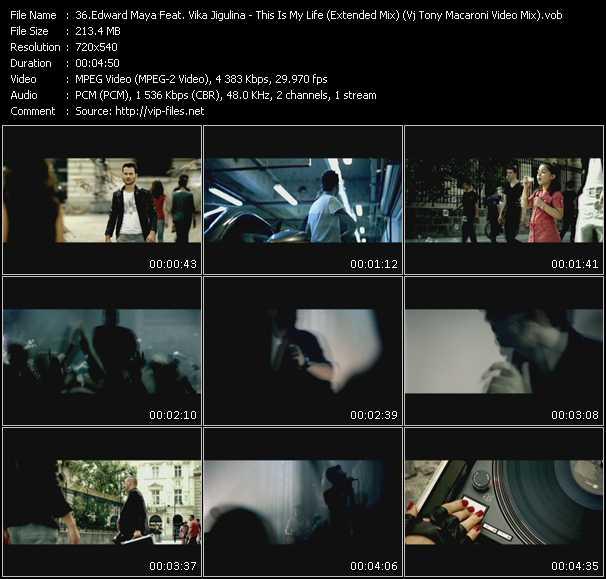 Edward Maya Feat. Vika Jigulina - This Is My Life (Extended Mix) (Vj Tony Macaroni Video Mix)