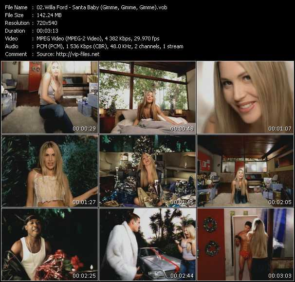 Willa Ford - Santa Baby (Gimme, Gimme, Gimme)