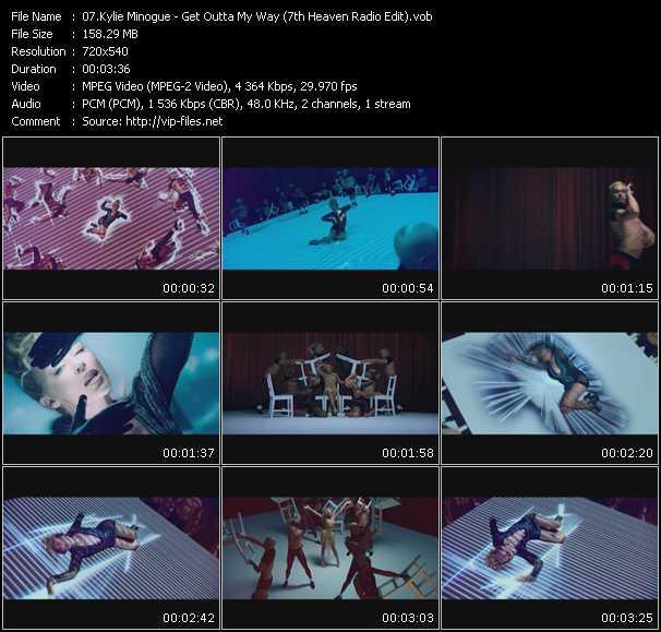 Kylie Minogue - Get Outta My Way (7th Heaven Radio Edit) (Vj Tony Macaroni Video Mix)