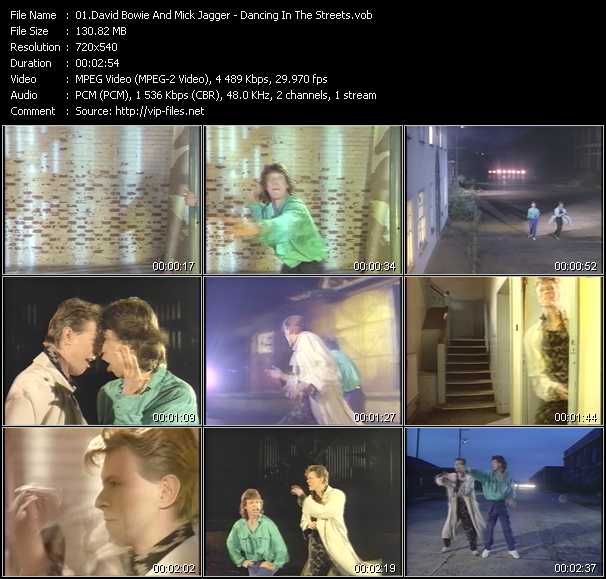 David Bowie And Mick Jagger - Dancing In The Streets