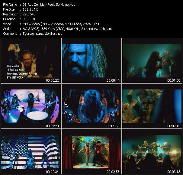 Rob Zombie - Feels So Numb