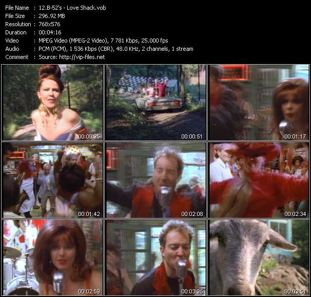 screenschot of B-52's video