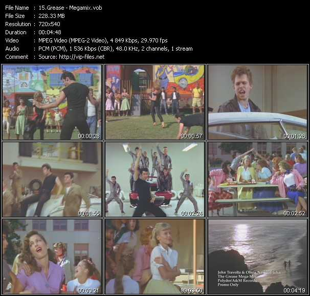 John Travolta And Olivia Newton-John - The Grease Mega-Mix