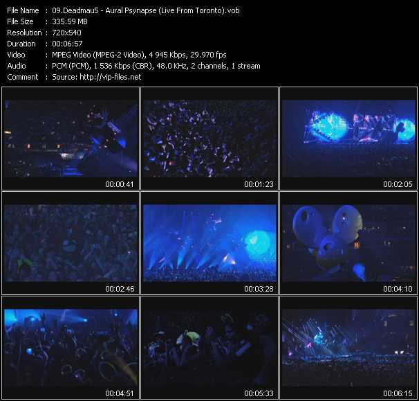 Deadmau5 - Aural Psynapse (Live From Toronto)