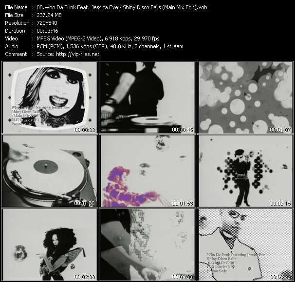 Who Da Funk Feat. Jessica Eve - Shiny Disco Balls (Main Mix Edit)