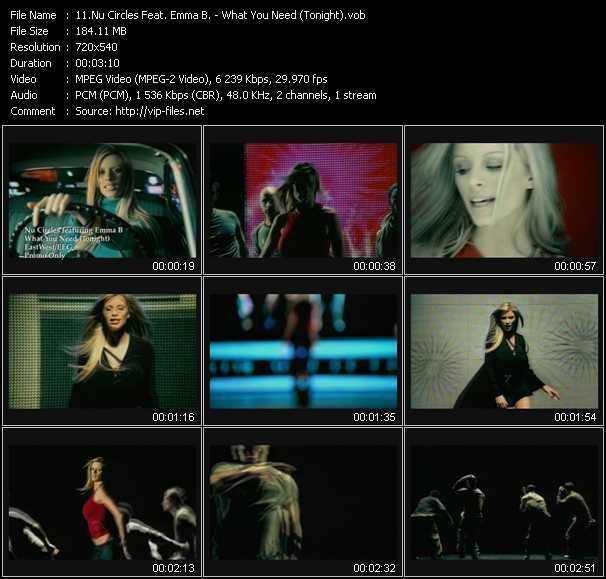 Nu Circles Feat. Emma B. - What You Need (Tonight)