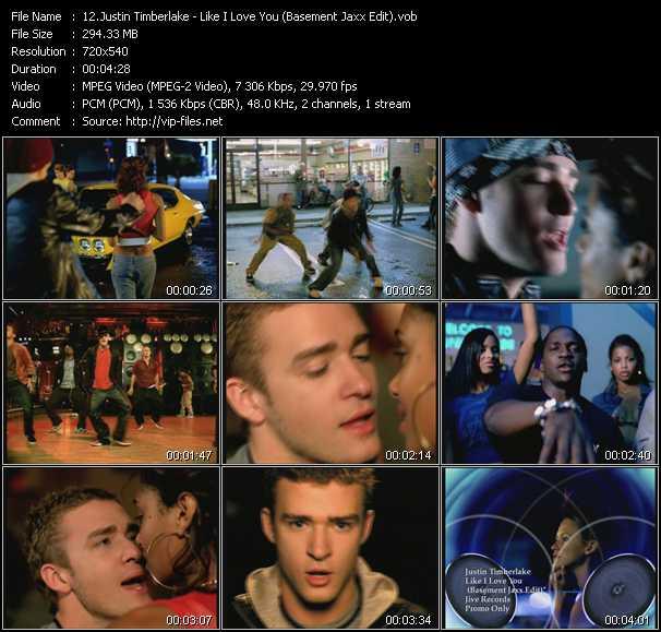 Justin Timberlake - Like I Love You (Basement Jaxx Edit)
