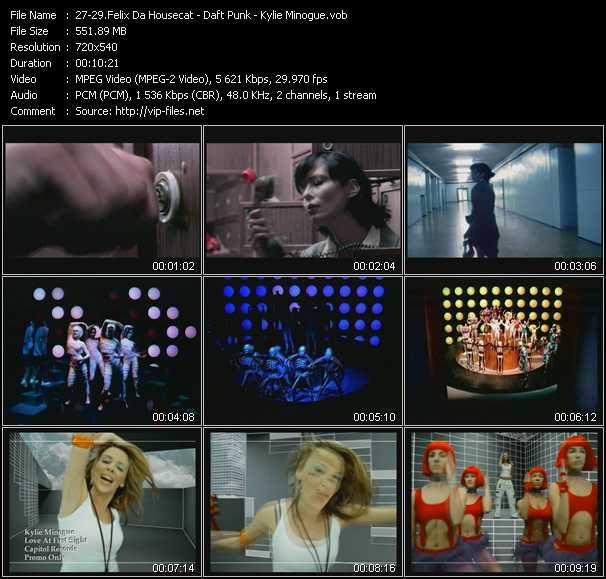 Felix Da Housecat - Daft Punk - Kylie Minogue - Silver Screen - Around The World - Love At First Sight
