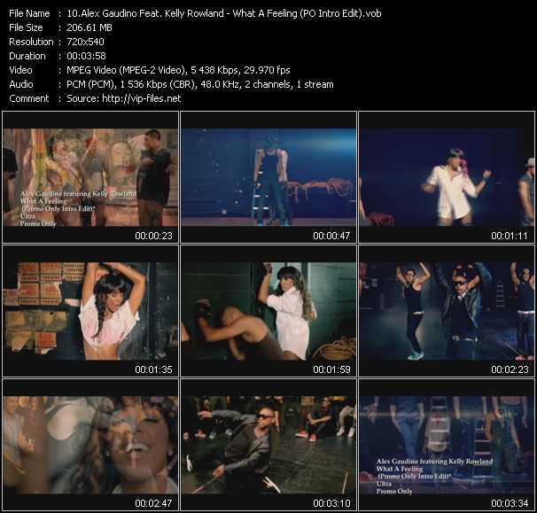 Alex Gaudino Feat. Kelly Rowland - What A Feeling (PO Intro Edit)