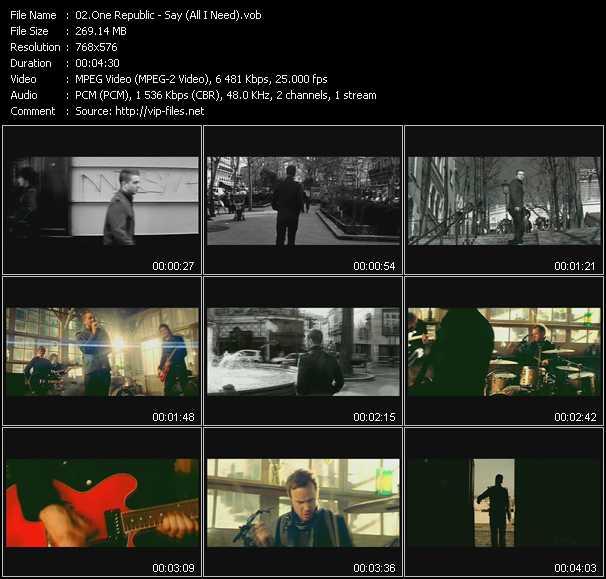 OneRepublic - Say (All I Need)