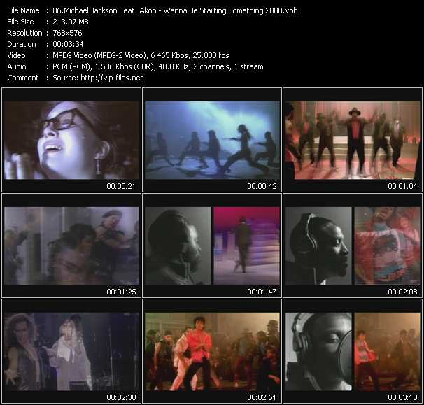 Michael Jackson Feat. Akon - Wanna Be Starting Something 2008