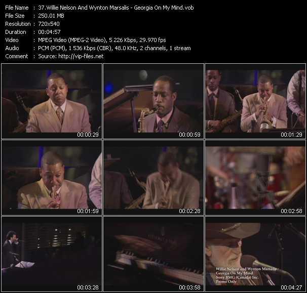 Willie Nelson And Wynton Marsalis - Georgia On My Mind