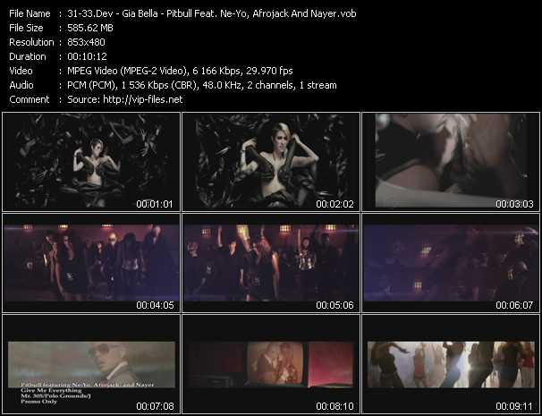 Dev - Gia Bella - Pitbull Feat. Ne-Yo, Afrojack And Nayer - In The Dark - Jump - Give Me Everything