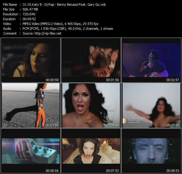 Katy B - Dj Rap - Benny Benassi Feat. Gary Go - Katy On A Mission - Good To Be Alive 2011 - Cinema (Skrillex Radio Edit)