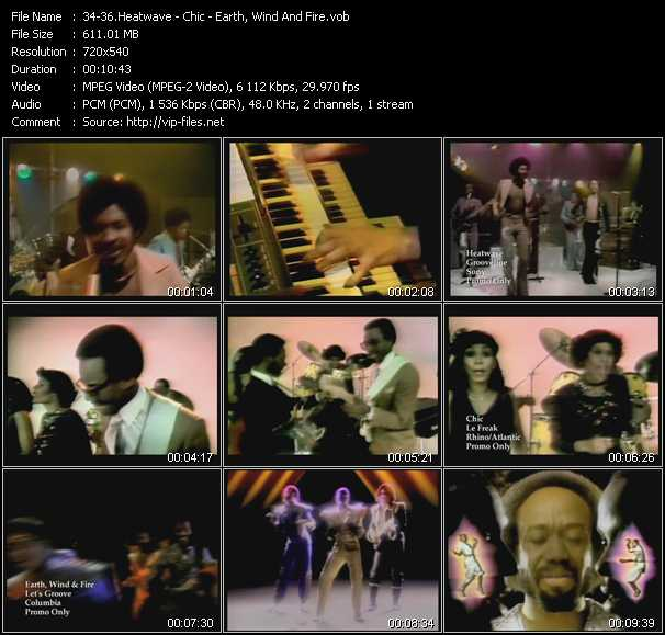 Heatwave - Chic - Earth, Wind And Fire - Grooveline - Le Freak - Let's Groove
