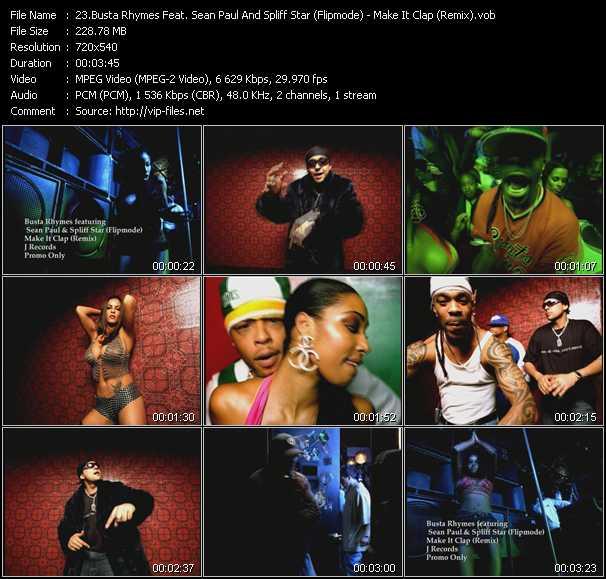 Busta Rhymes Feat. Sean Paul And Spliff Star (Flipmode) - Make It Clap (Remix)