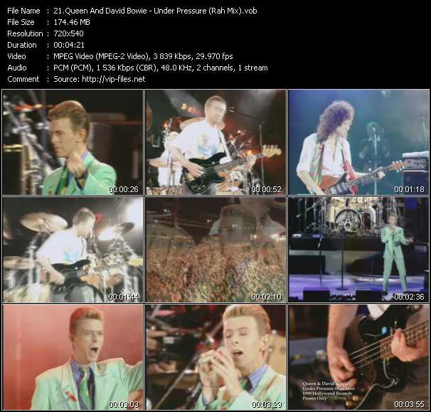 Queen And David Bowie - Under Pressure (Rah Mix)