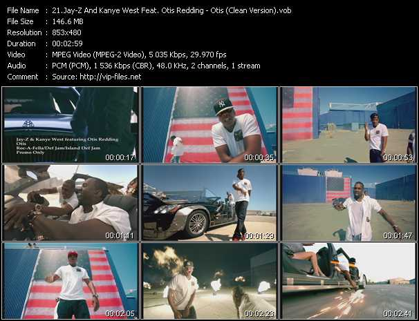 Jay-Z And Kanye West Feat. Otis Redding - Otis (Clean Version)
