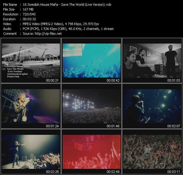 Swedish House Mafia - Save The World (Live Version)