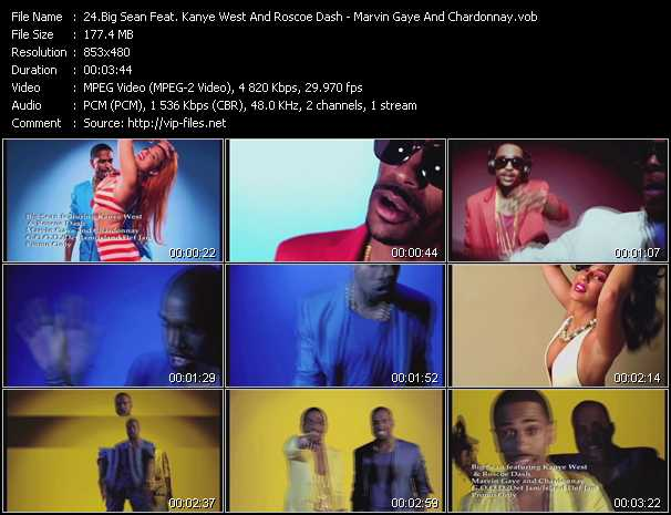 Big Sean Feat. Kanye West And Roscoe Dash - Marvin Gaye And Chardonnay