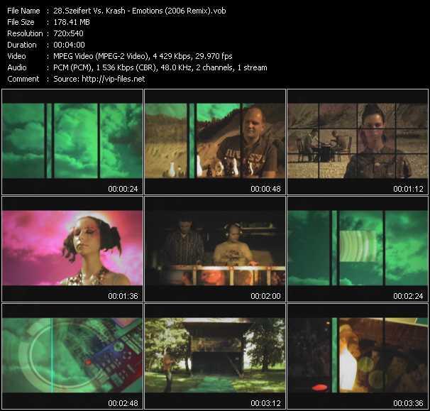Szeifert Vs. Krash - Emotions (2006 Remix)