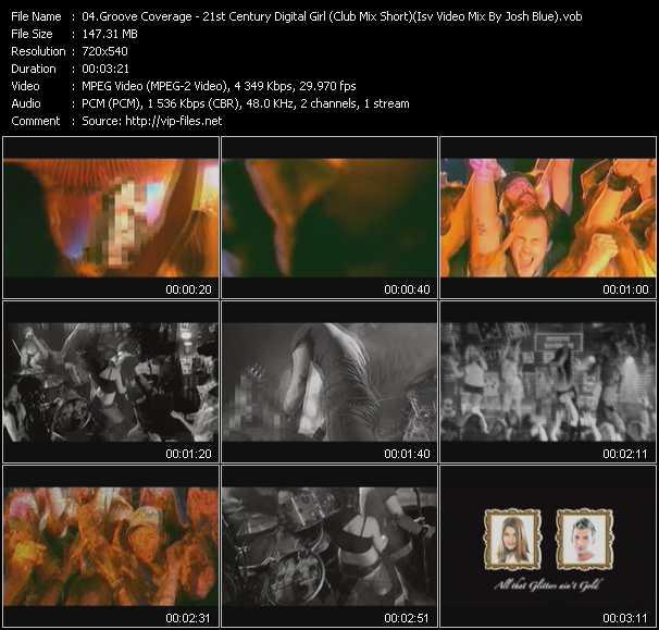 Groove Coverage - 21st Century Digital Girl (Club Mix Short) (Isv Video Mix By Josh Blue)