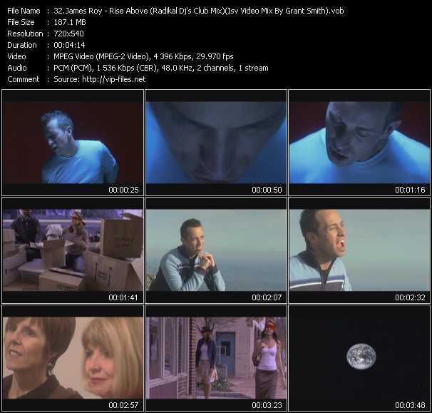 James Roy - Rise Above (Radikal Dj's Club Mix) (Isv Video Mix By Grant Smith)