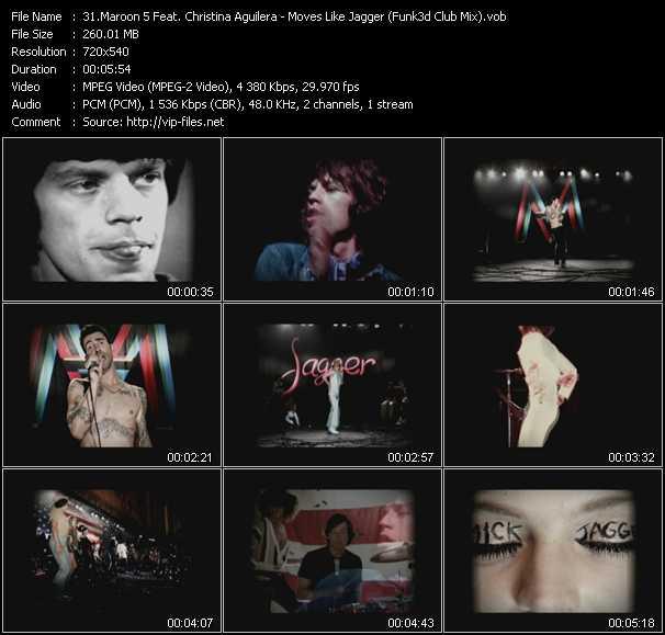 Maroon 5 Feat. Christina Aguilera - Moves Like Jagger (Funk3d Club Mix) (Vj Tony MacAroni Video Mix)