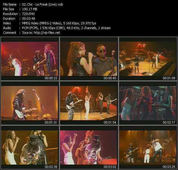 Chic - Le Freak (Live)