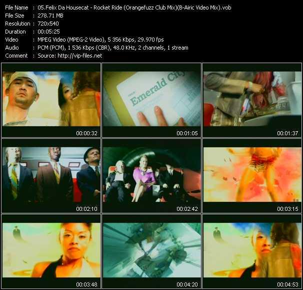 Felix Da Housecat - Rocket Ride (Orangefuzz Club Mix) (B-Airic Video Mix)