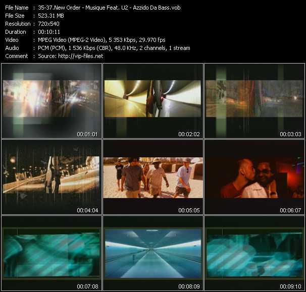 New Order - Musique Vs. U2 - Azzido Da Bass - Crystal (Club Remix) - New Years Dub - Dooms Night