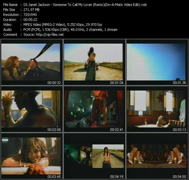 Janet Jackson - Someone To Call My Lover (Remix) (Div-A-Matic Video Edit)
