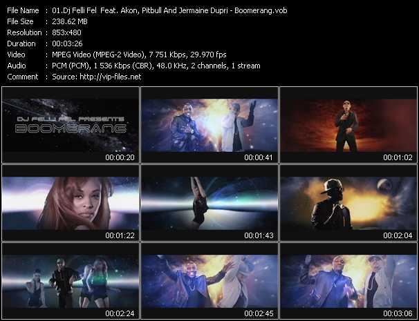 Dj Felli Fel Feat. Akon, Pitbull And Jermaine Dupri - Boomerang