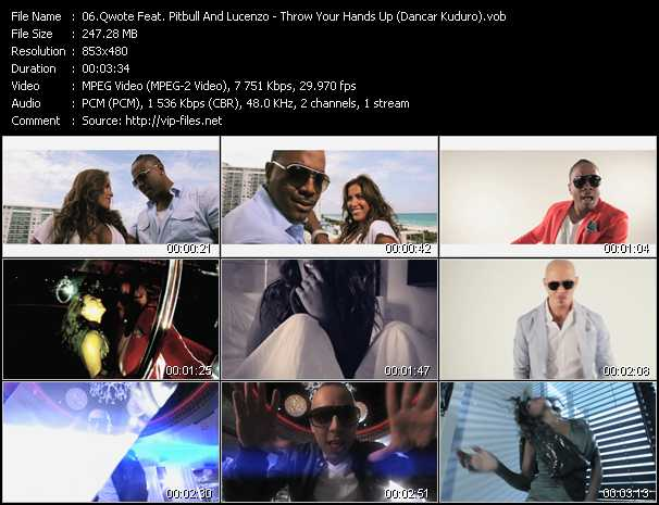 Qwote Feat. Pitbull And Lucenzo - Throw Your Hands Up (Dancar Kuduro)