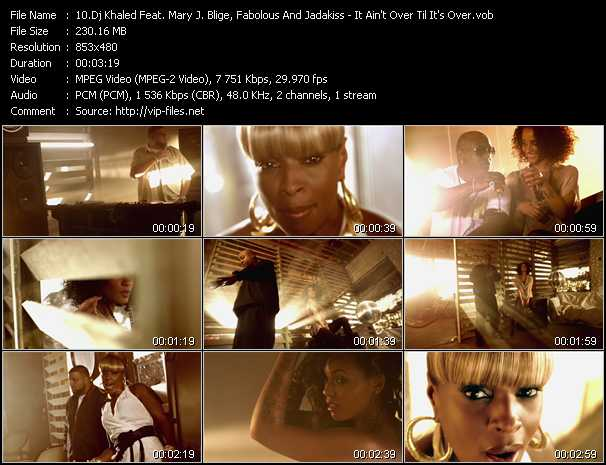 Dj Khaled Feat. Mary J. Blige, Fabolous And Jadakiss - It Ain't Over Til It's Over