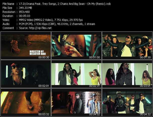 Dj Drama Feat. Trey Songz, 2 Chainz And Big Sean - Oh My (Remix)