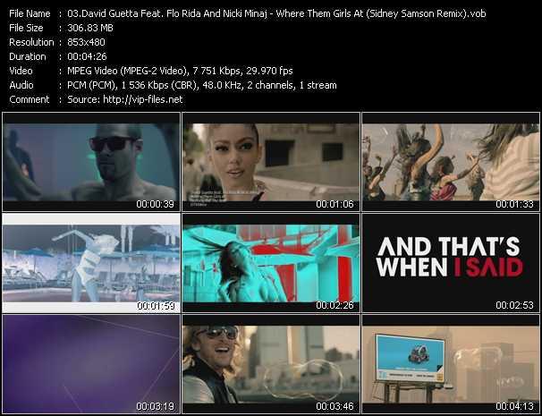 David Guetta Feat. Flo Rida And Nicki Minaj - Where Them Girls At (Sidney Samson Remix)