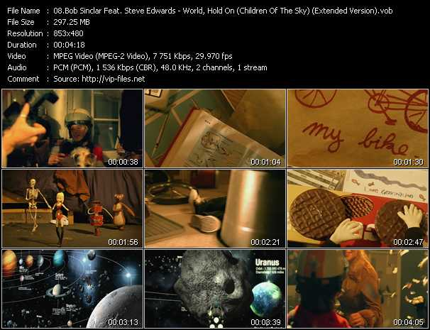Bob Sinclar Feat. Steve Edwards - World, Hold On (Children Of The Sky) (Extended Version)