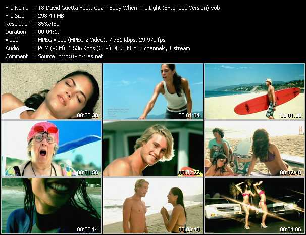 David Guetta Feat. Cozi - Baby When The Light (Extended Version)