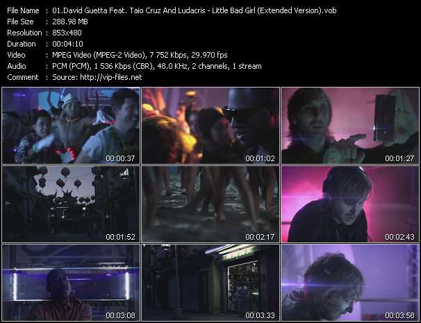 David Guetta Feat. Taio Cruz And Ludacris - Little Bad Girl (Extended Version)